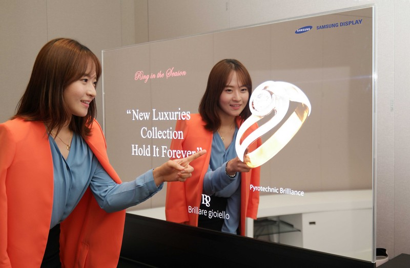 Mirror and Transparent OLED Display Panels by Samsung