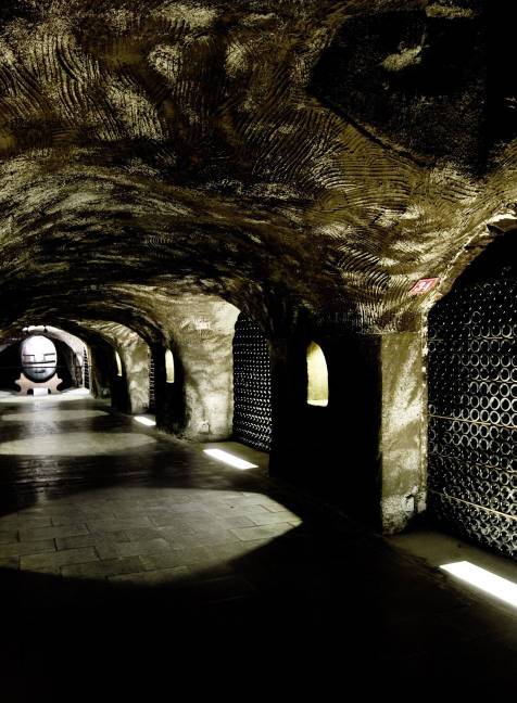 Moët & Chandon cellars in Epernay - the imperial gallery
