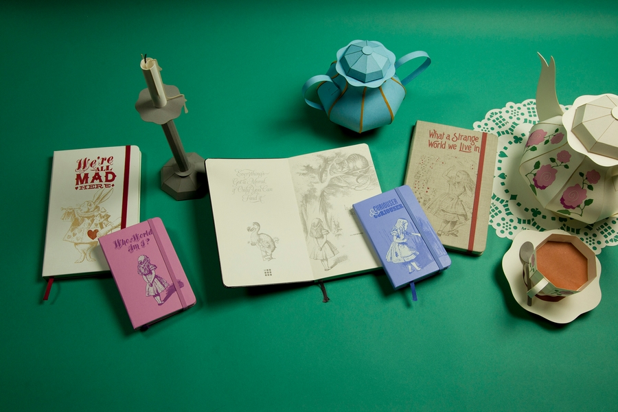 Moleskine Launches Alice's Adventures in Wonderland Limited Edition Collection-