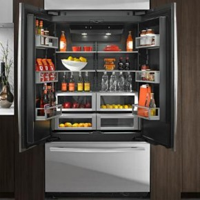 Luxury inside and out obsidian luxury refrigerators by for Jenn air obsidian refrigerator