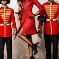 Naomi Campbell photographed by Mario Testino for the Burberry festive campaign