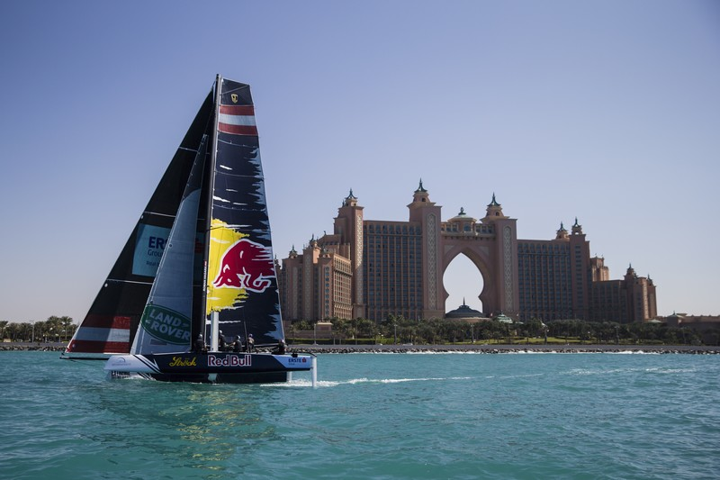 New GC32 foiling catamaran launched in front of Burj al Arab-2016