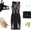 New_Years_Outfit-Herve Leger-Cartier Sweet Trinity earrings-Rosalina Nacken-Shelle Classica-Jimmy Choo-shoes