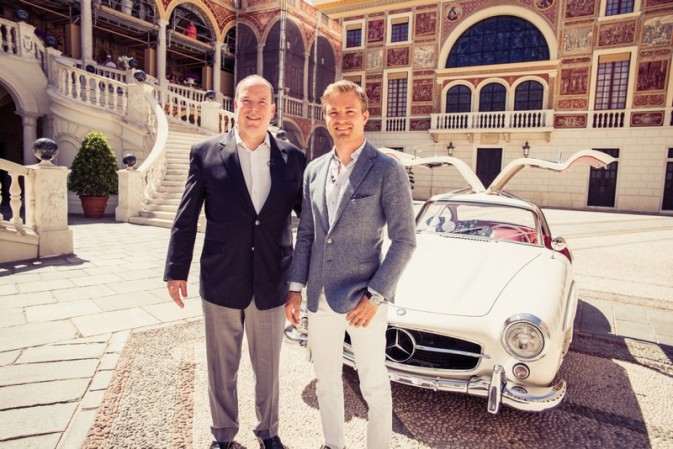 Nico Rosberg and Prince Albert of Monaco on the ultimate driver's track