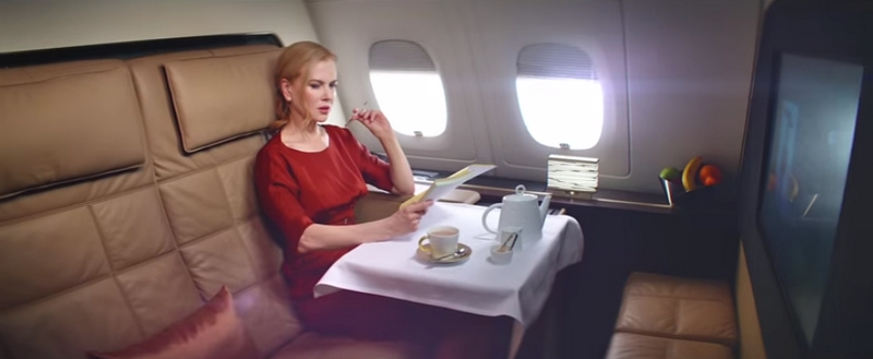 Nicole Kidman Flying Reimagined Etihad Airways - 2015 campaign-