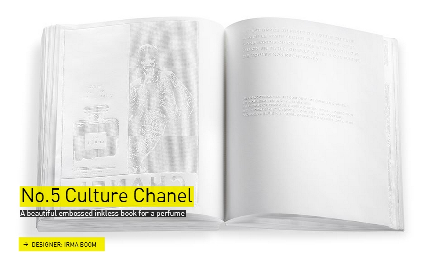 No.5 Culture Chanel inkless book - The Designs of the Year 2015 nominees @ Design Museum London