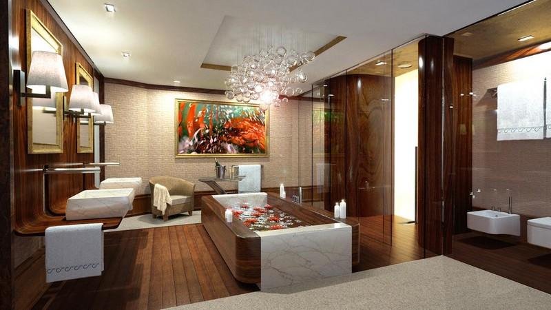 Nobiskrug x Claydon Reeves Radiance superyacht 2015- bathroom