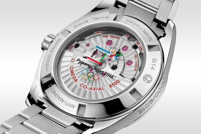 """#OlympicWinterGames: Counting down in style, with the OMEGA Seamaster Aqua Terra """"PyeongChang 2018″"""