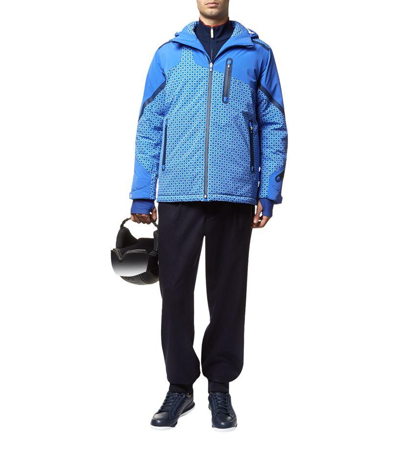 Octagon Print Ski Jacket