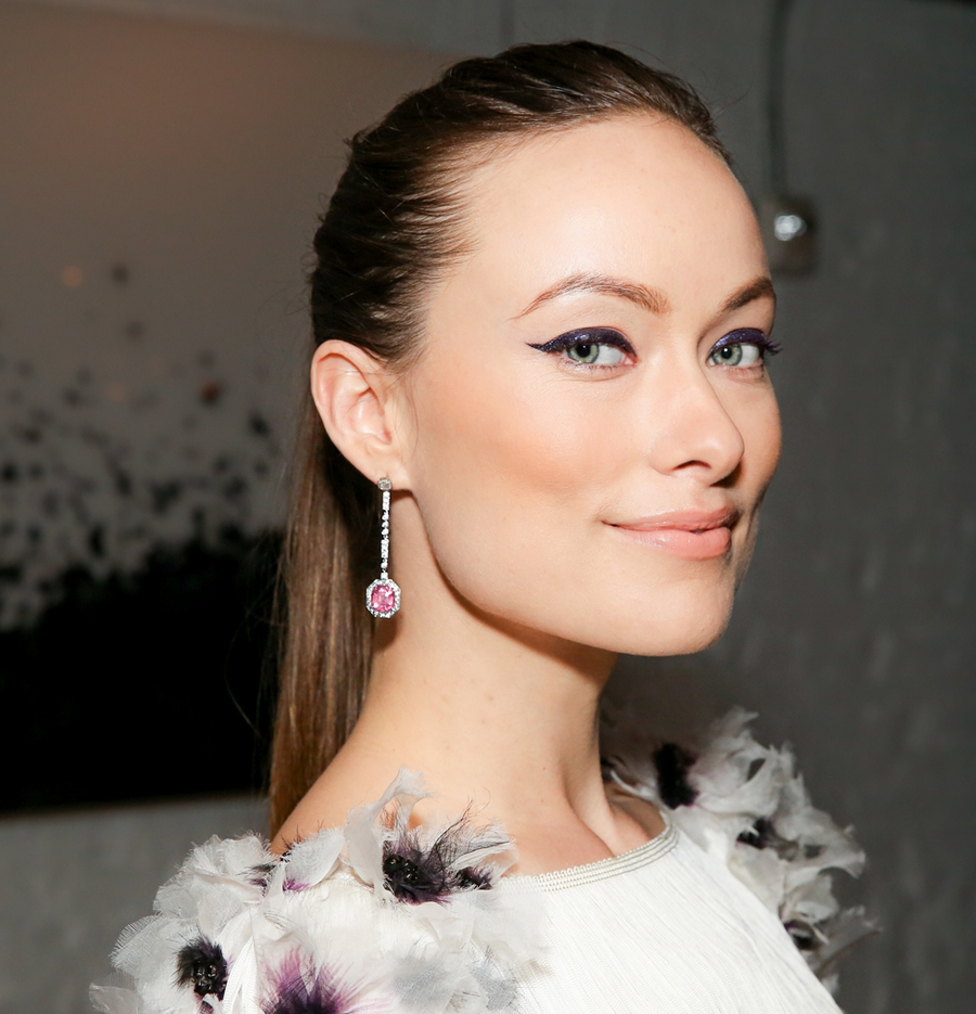 Olivia Wilde in Tiffany jewels at the 2015 Blue Book dinner.