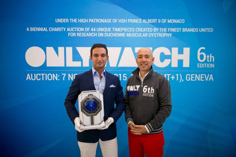 Only Watch auction 2015-Alessandro Quintavalle, Thomas Mercer's CEO and Luc Pettavino