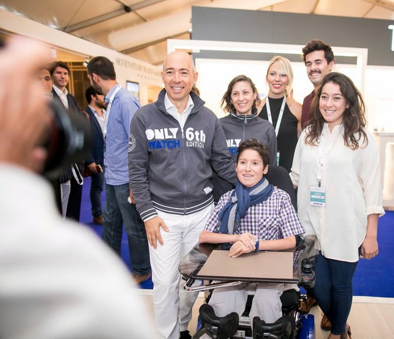 Only Watch auction 2015-Luc Pettavino and his family — at Monaco Yacht Show - MYS.