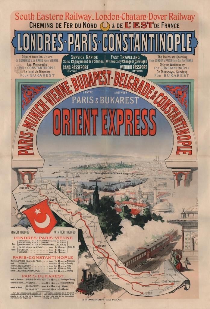 Orient Express map