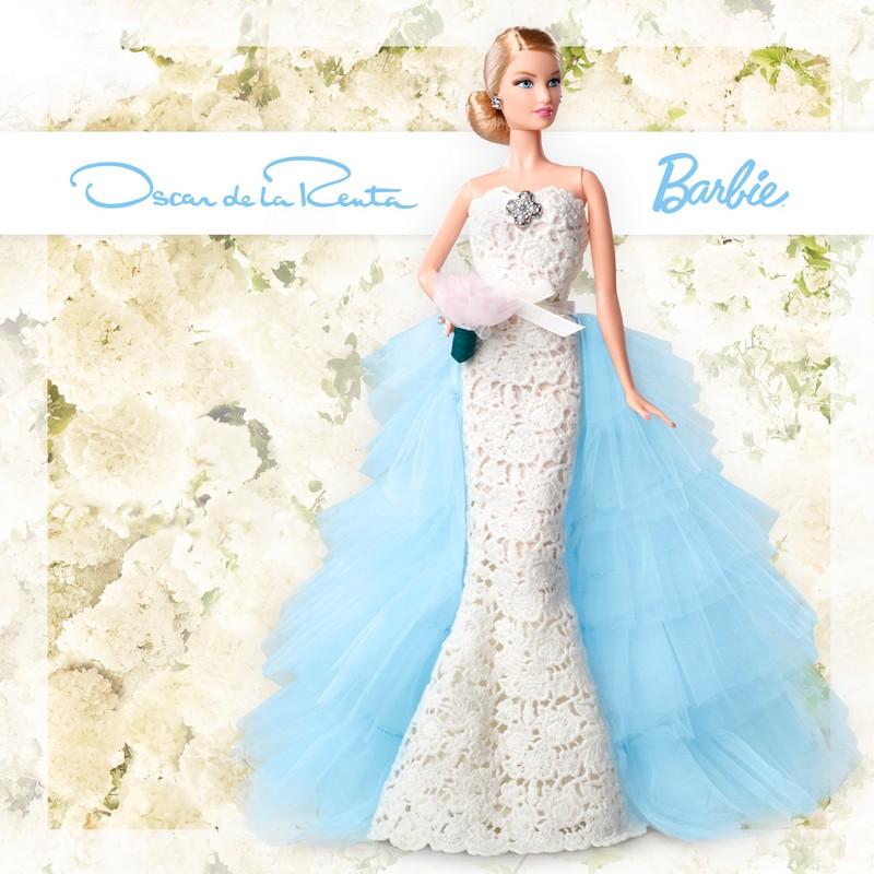 Oscar de la Renta Bridal Barbie Doll 2016