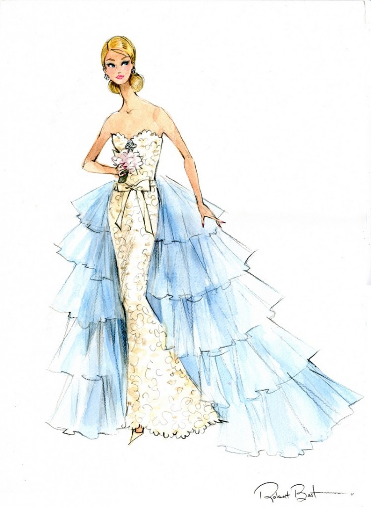 Oscar de la Renta Bridal Barbie Doll