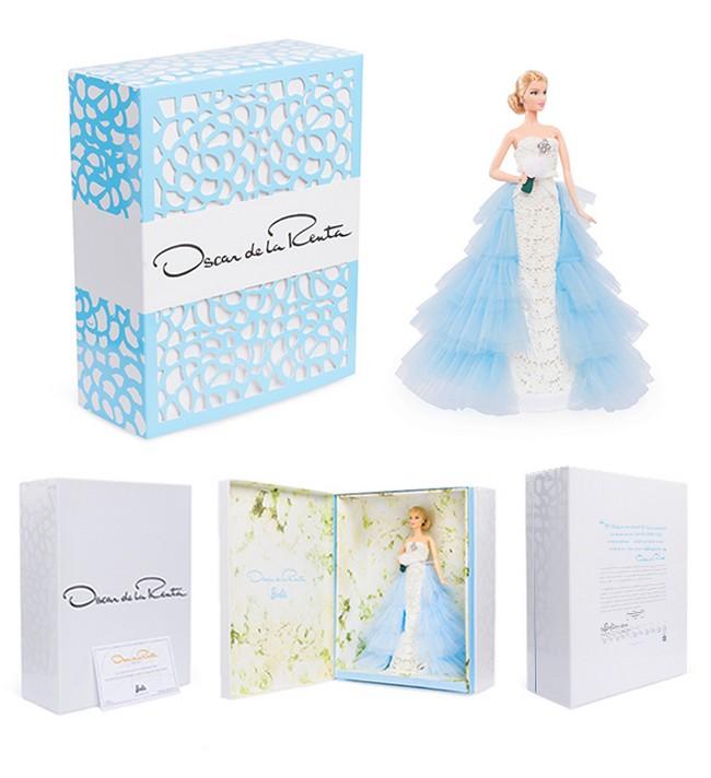 Oscar de la Renta Bridal Barbie Doll box