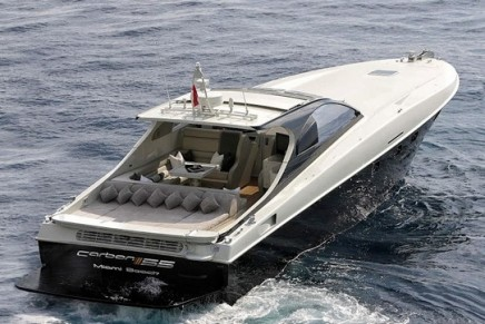 The Otam Millenium Carbon 55′ open style cruiser