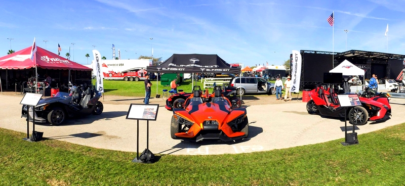 POLARIS LIMITED EDITION SLINGSHOT AT DAYTONA BIKE WEEK 2015 -Three different ways to feel the rush