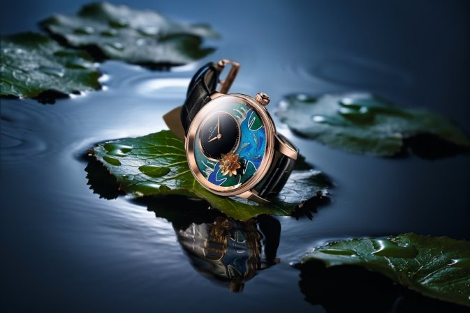 Heure Minute Relief Carps watch by Jacquet Droz