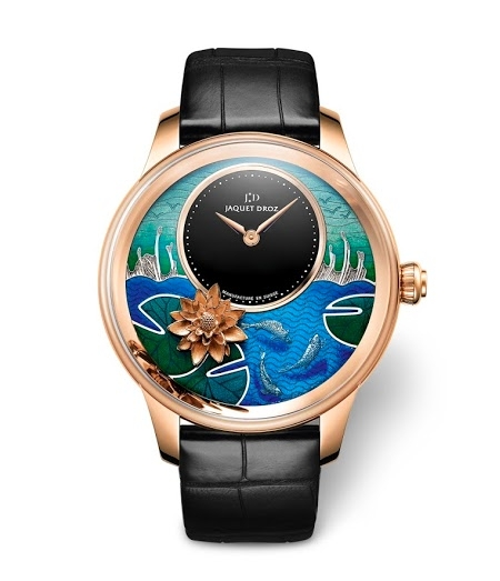 Petite Heure Minute Relief Carps watch by Jacquet Droz watch 2015