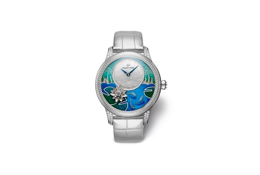 Petite Heure Minute Relief Carps watch by Jacquet Droz watch