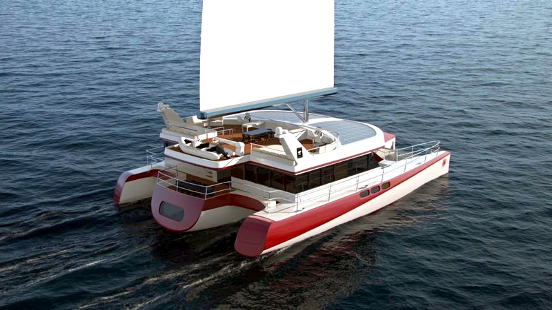 Pi Super Yachts Dragonship 25 Luxury Super Trimaran wirh Hydrogenisis Blue Box