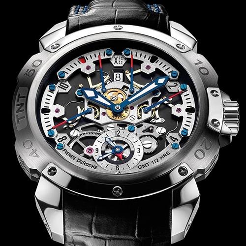 Pierre Deroche TNT Royal Retro GMT ½ Hour watch