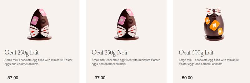 Pierre Marcolini Easter in Wonderland eggs
