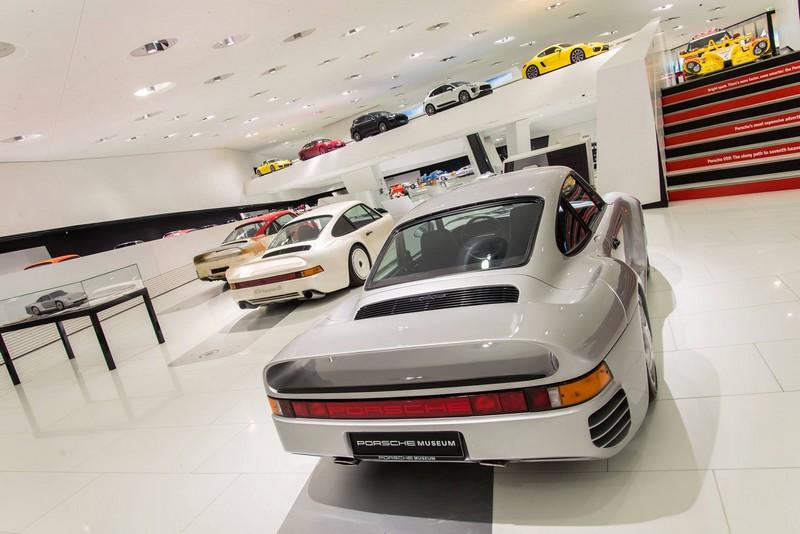Porsche 959 exhibition Porsche Museum in 2015-