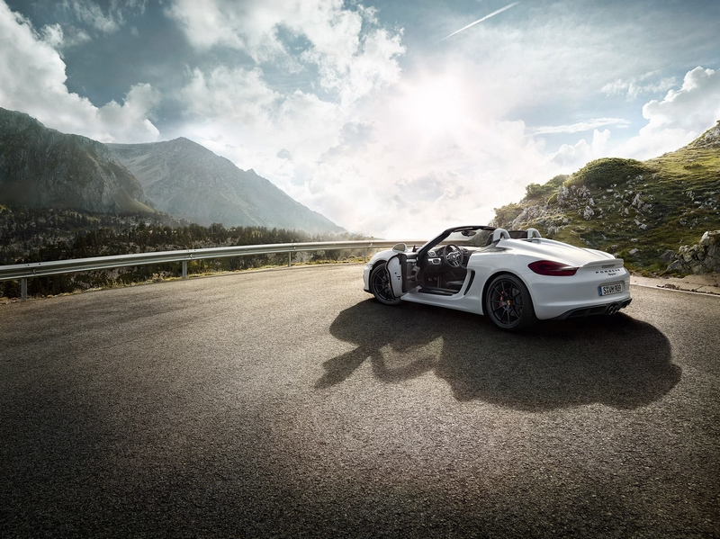 Porsche Boxter Spyder-The new Boxster Spyder debuts at 2015 New York International Auto Show-