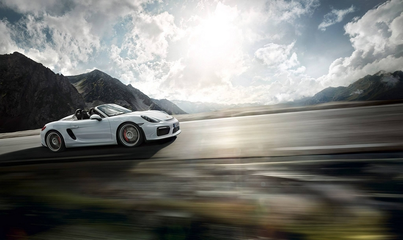 Porsche Boxter Spyder-The new Boxster Spyder debuts at 2015 New York International Auto Show--