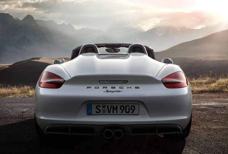 Porsche Boxter Spyder-The new Boxster Spyder debuts at 2015 New York International Auto Show