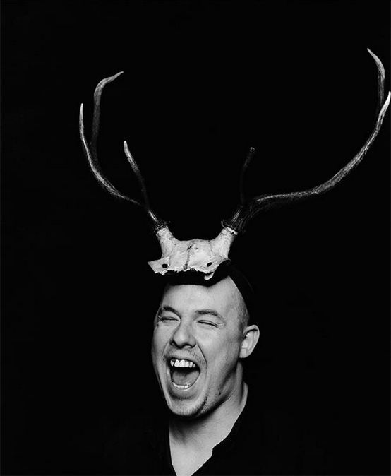 Portrait of Alexander McQueen, 1997 photographed by Marc Hom