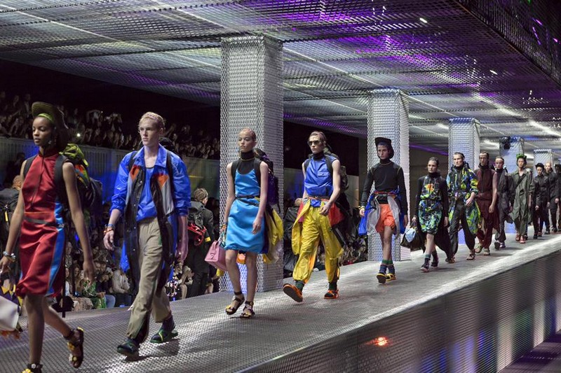 Prada Spring-Summer 2017 men's and women's show finale