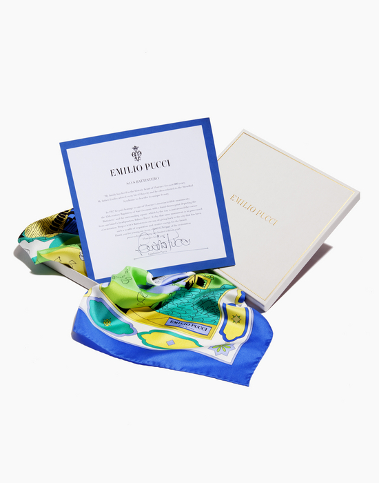Pucci SOS Battistero - A Pucci scarf to help restore the stunning Battistero in Florence