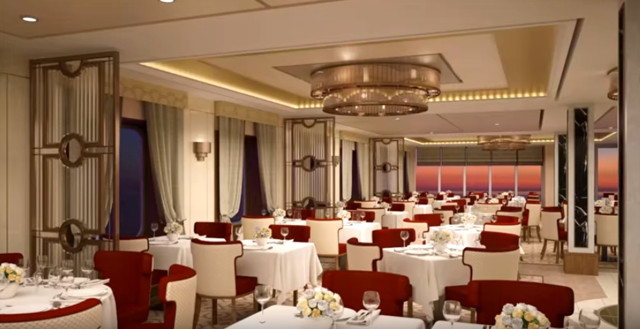 Queen Mary 2 -- dining spaces