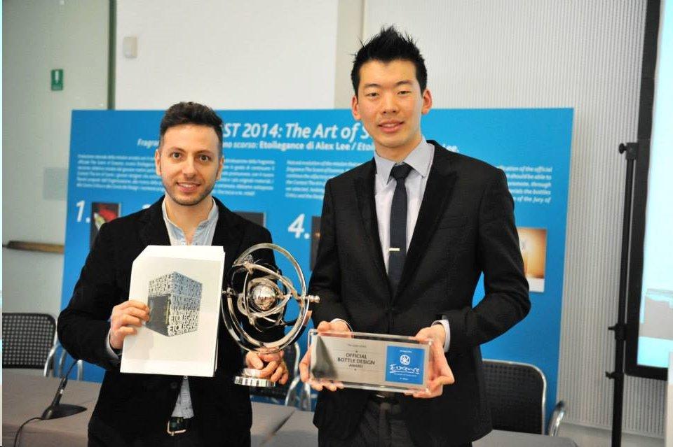 Radis Nikzad wins Design Award Most Artistic Bottle at Esxence for Alex Lee's Etoilegance Perfume