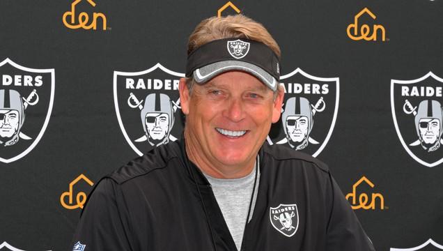 Raiders head coach Jack Del Rio