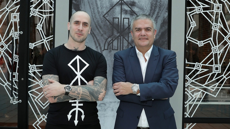 ricardo-guadalupe-ceo-of-hublot-and-maxime-buchi-at-sang-bleu-pop-up-tattoo-shop-at-the-hublot-galerie-design-district-boutique-miami