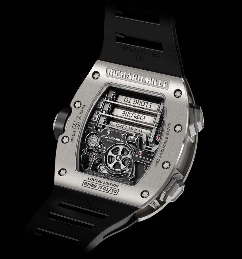 RichardMille RM 69 Erotic Tourbillon - back case