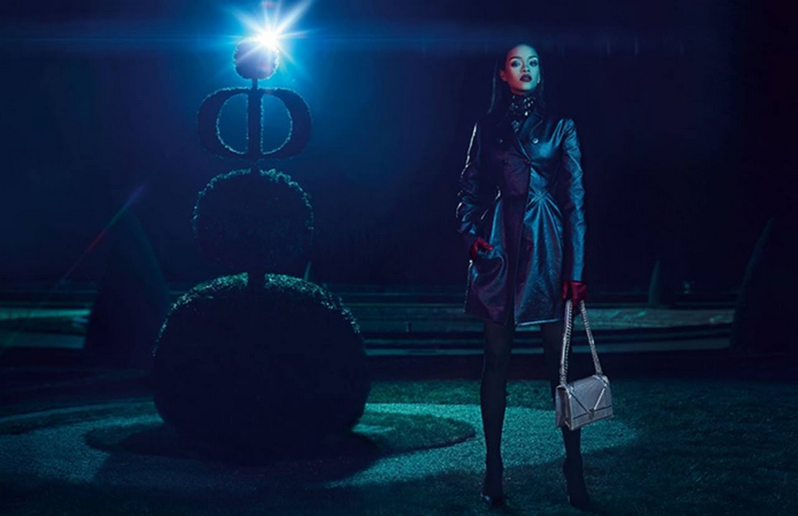 Rihanna in Christian Dior's Secret Garden 2015 ad campaign