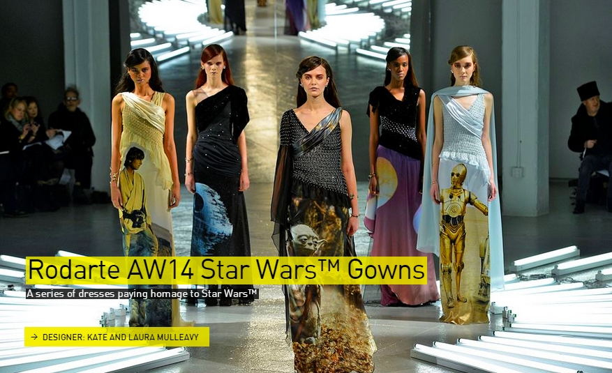 Rodarte AW14 Star Wars Gowns -Fashion - The Designs of the Year 2015 nominees @ Design Museum London