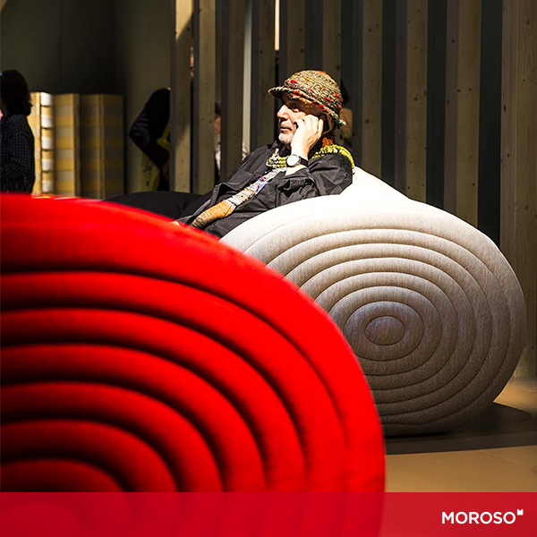 Ron Arad sitting on his Glider