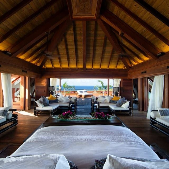 Room with a view on Necker Island