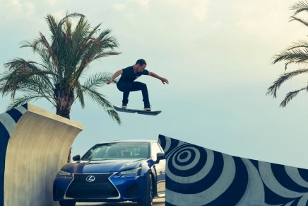 Lexus Hoverboard with magnetic levitation technology shows final testing in Barcelona. Travelling across water included.