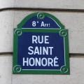Rue Saint- Honoré plate
