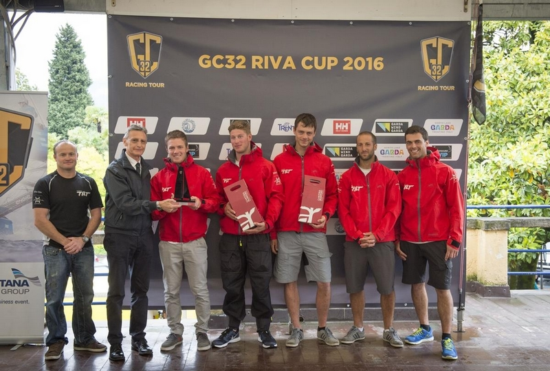 Sébastien Schneiter and Team Tilt take 2nd - Winners of the GC32 Riva Cup 2016 on Lake Garda