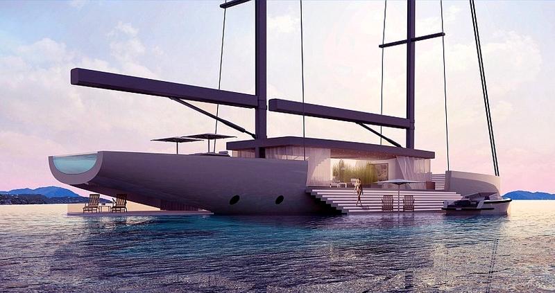 SALT _ Glass sailing yacht concept by Lujac Desautel