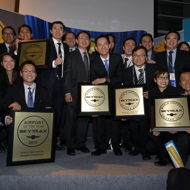 SINGAPORE CHANGI AIRPORT celebrates hat-trick of success at the World Airport Awards