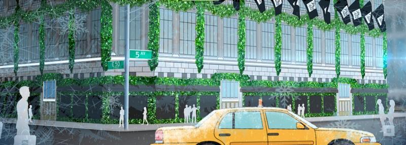 Saks Fith Avenue 2015 windows